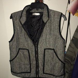 J Crew herringbone lookalike Vest